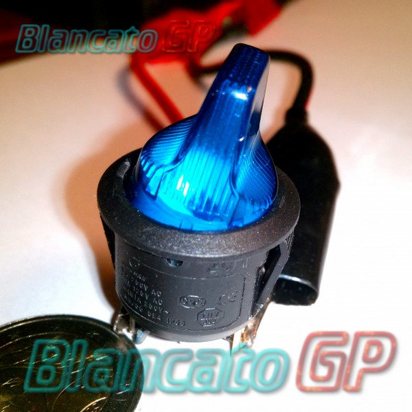 Interruttore a Bilanciere 12V ON-OFF Blu