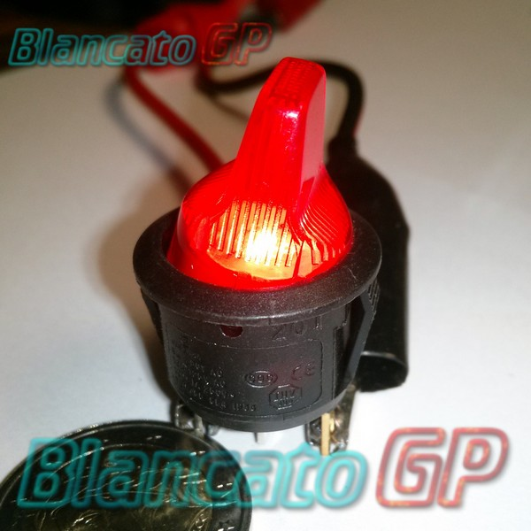 Interruttore a Bilanciere 12V ON-OFF Rosso