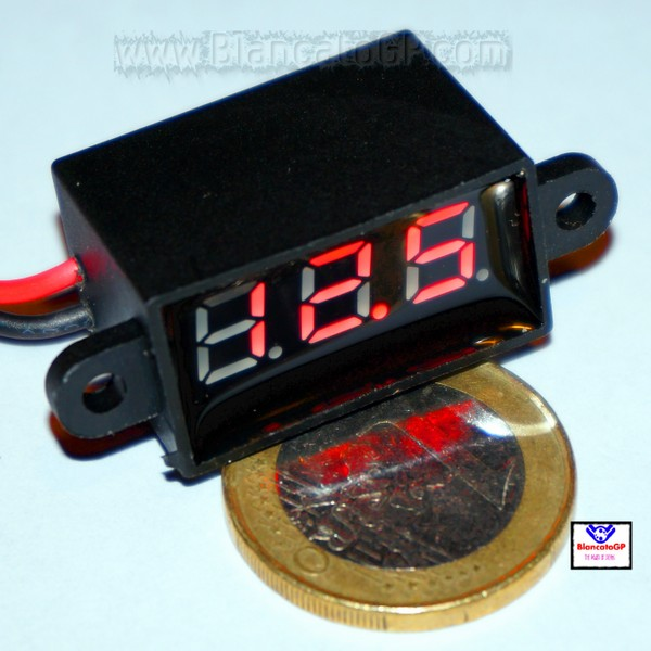 Micro Voltmetro Waterproof Led Rosso