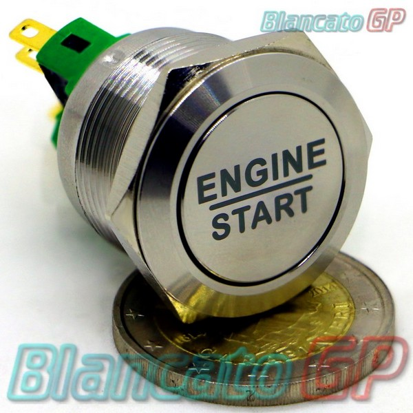 Pulsante Engine Start 22mm Monostabile