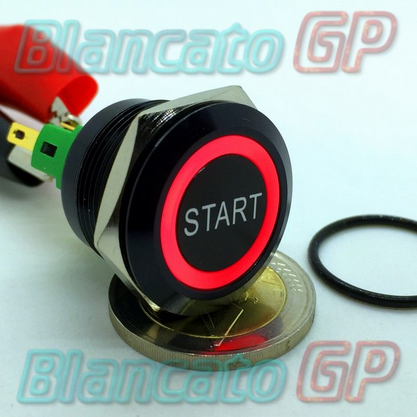 Pulsante Start 22mm Monostabile Led Rosso