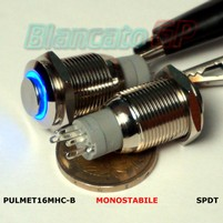 Pulsante TR-Monostabile 16mm Led Blu