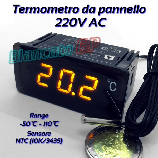 TERMOMETRO TM-902C PER TERMOCOPPIE TIPO K RANGE 50-1300°C ...