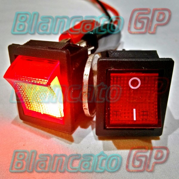 Interruttore a bilanciere ON-ON 6 PIN Rosso